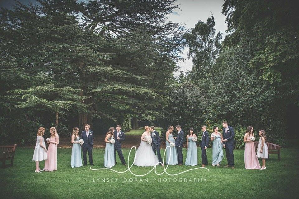 Emma wedding photo with flowers