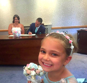 Flower girl with wand