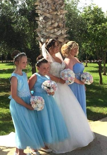 Julie wedding abroad photo