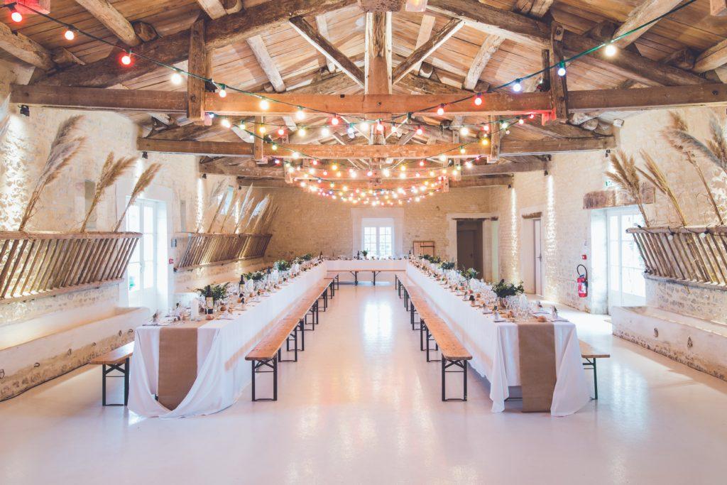 Wedding meal table
