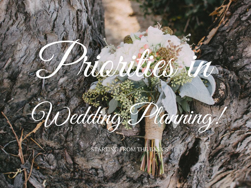 Wedding Planning Priorities